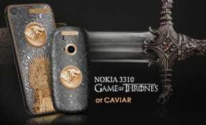 Фанатам «Игры престолов»: представили нокиа 3310 иiPhone 7 из«валирийской стали»