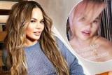 Клубничная блондинка: Крисси Тейген сменила цвет волос